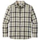 Mountain Khakis Men's Saloon Flannel Shirt Cream Plaid