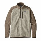 Patagonia Ms Better Sweater 1/4 Zip Bleached Stone w/Pale Khaki