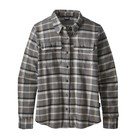 Patagonia Women's L/S Fjord Flannel Shirt Rebel: Forge Grey