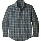 Patagonia Men's L/S Pima Cotton Shirt Lodge Pine: Stone Blue