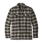 Patagonia Men's L/S Fjord Flannel Shirt Migration Plaid Small: Black