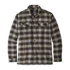 Patagonia Men's L/S Fjord Flannel Shirt Migration Plaid Small: Black