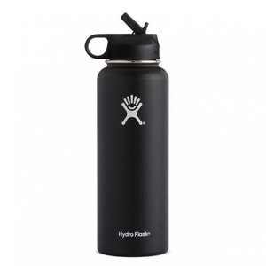Hydro Flask 32 oz Wide Mouth w/ Straw Lid Black