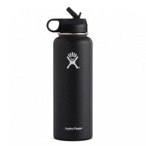 Hydro Flask 32 oz Wide Mouth w/ Straw Lid Black