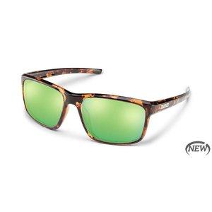 SunCloud Suncloud Respek Tortoise/PLR Green Mirror