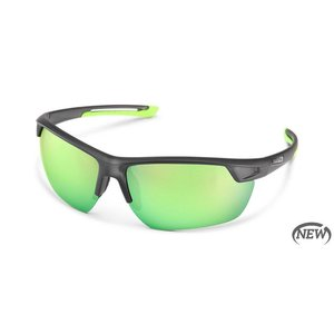 SunCloud Suncloud Contender Matte Smoke/PLR Green Mirror