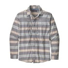 Patagonia M's L/S Sun Stretch Shirt Tarkine Stripe: Dolomite Blue