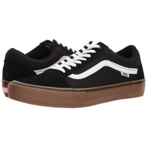 Vans M OLD SKOOL PRO (BW9) BLACK/WHITE/MEDIUM GUM Mens
