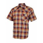 Club Ride New West Men's Short Sleeve Snap Down Top Rust