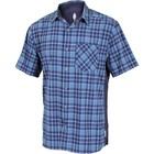 Club Ride Detour Men's Short Sleeve Snap Down Top Steel Blue
