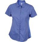Club Ride Bandara Womens Snap Front Short Sleeve Top Glacier Blue