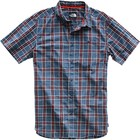 The North Face Men's S/S Buttonwood Shirt NF0A3T1J 9SN-Shady Blue Sterling Plaid