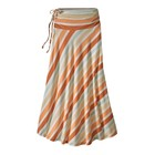Patagonia W's Kamala Maxi Skirt Water Ribbons: Sunset Orange