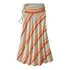 Patagonia W's Kamala Maxi Skirt Water Ribbons: Sunset Orange