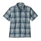 Patagonia M's Puckerware Shirt Canopy Plaid: Stone Blue