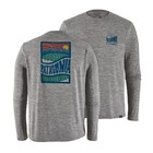 Patagonia M's L/S Cap Cool Daily Graphic Shirt Cosmic Peaks: Feather Grey