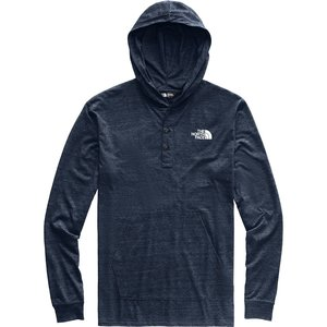8d65d9f4a Men's Tri-Blend Henley Hoodie NF0A3MAZ 6NL-Urban Navy Heather/TNF White