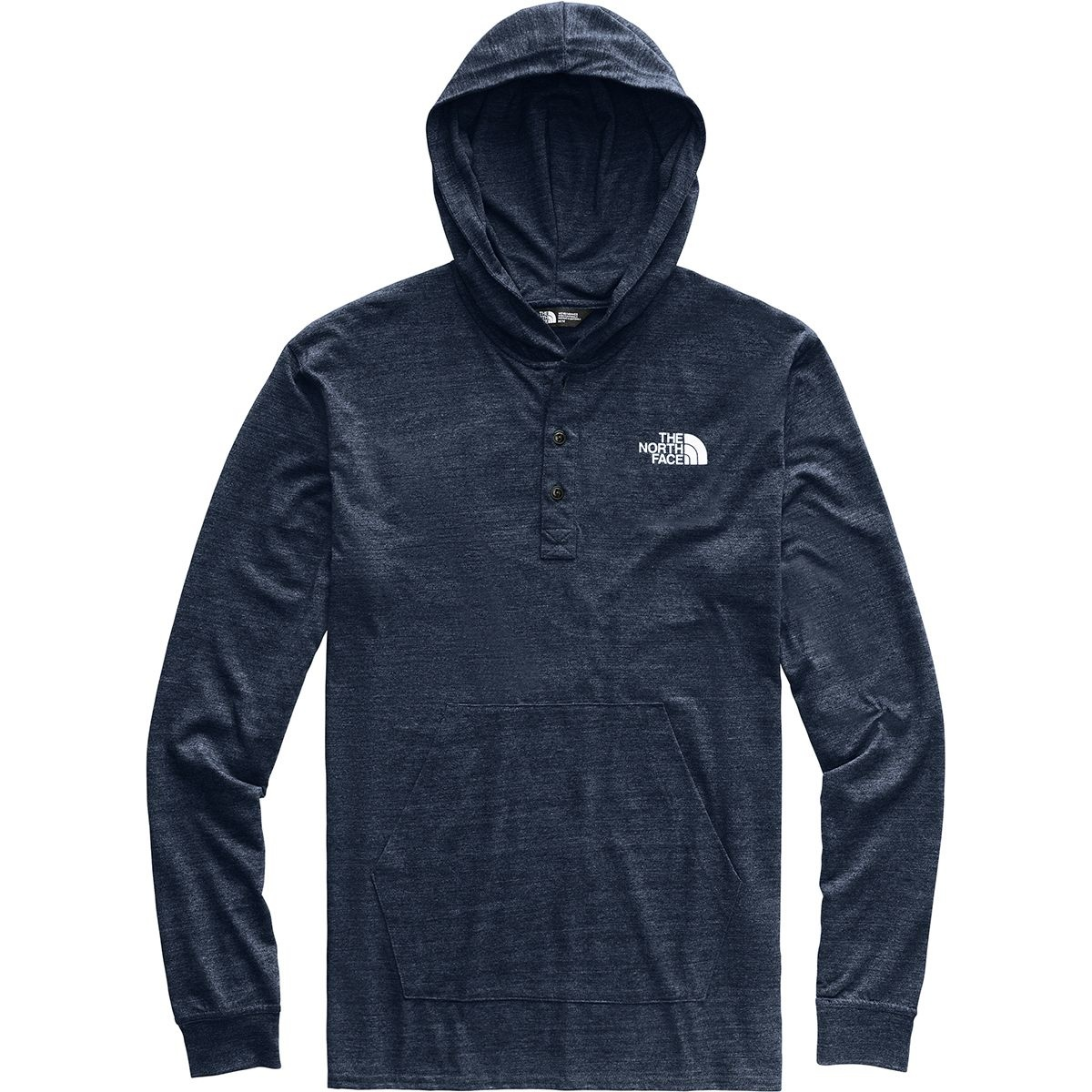 53572986a Men's Tri-Blend Henley Hoodie NF0A3MAZ 6NL-Urban Navy Heather/TNF White