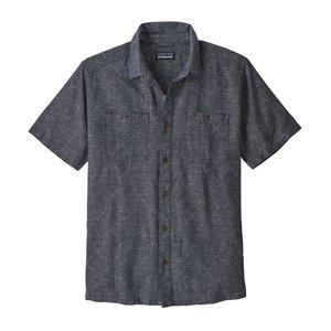 Patagonia M's Back Step Shirt Goshawk Dobby: Neo Navy