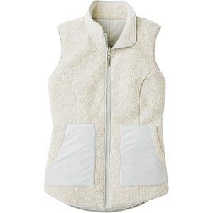 SmartWool Women's Anchor Line Reversible Sherpa Vest Storm Gray