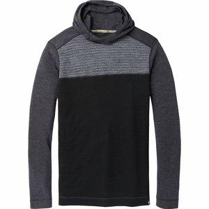 SmartWool Men's Merino 250 Color Block Hoodie Medium Gray Tick Stitch