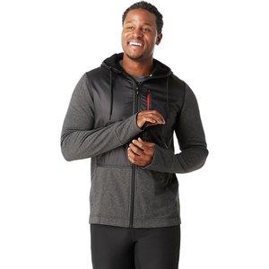 SmartWool Men's Merino Sport Fleece Full Zip Hybrid Hoodie Charcoal Heather