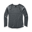The North Face Women's Essential L/S NF0A3YWE 5FR-TNF Black Micro Stripe