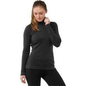 SmartWool Women's Merino 250 Baselayer 1/4 Zip Charcoal Heather