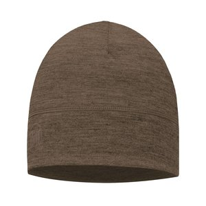 Buff LTWT Merino Wool Hat Denim Walnut Brown
