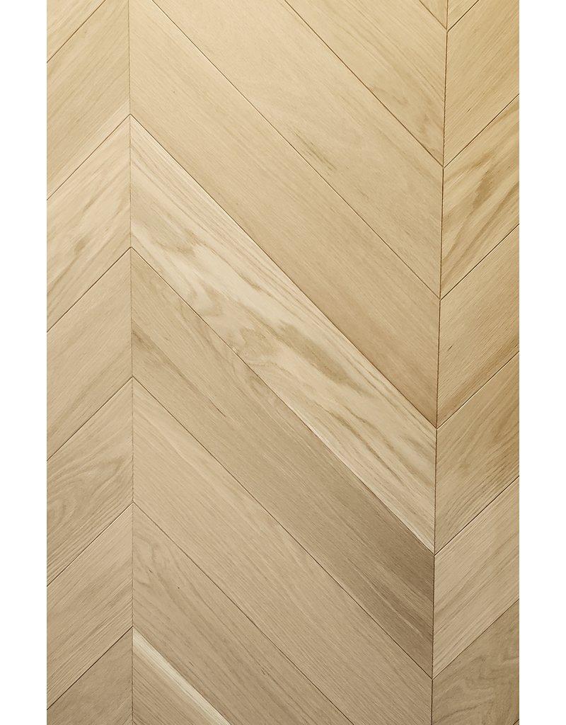 "American Flooring Ingénierie 3/4"" chevron, chêne blanc sélect naturel pré-verni mat"