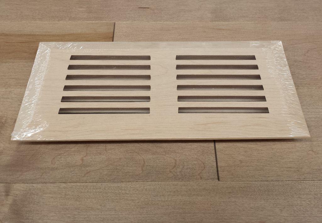 """Groupe Finitec Grille de ventilation modèle surface, merisier, 4"""" x 10"""""""