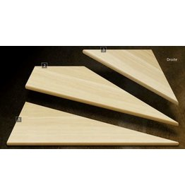Composantes Lab-Co Inc Ens. de marches d'angle en bois grade naturel