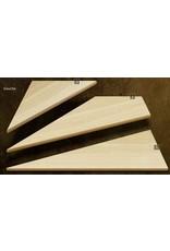 Composantes Lab-Co Inc Ensemble de marches d'angle en bois grade naturel