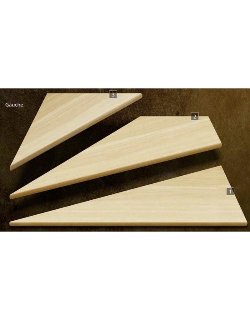 Composantes Lab-Co Inc Ensemble de marches d'angle en bois grade sélect
