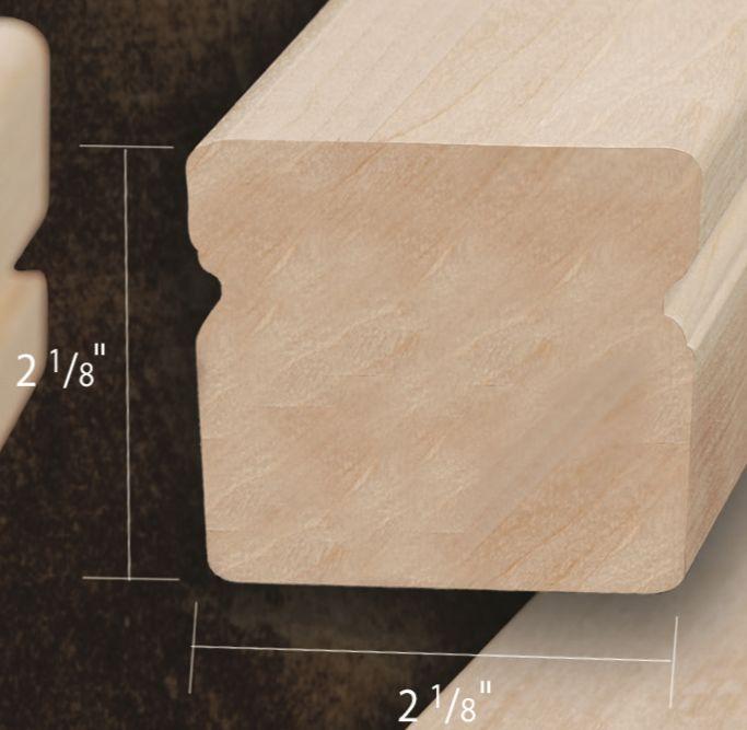 Composantes Lab-Co Inc Main courante moderne grade naturel