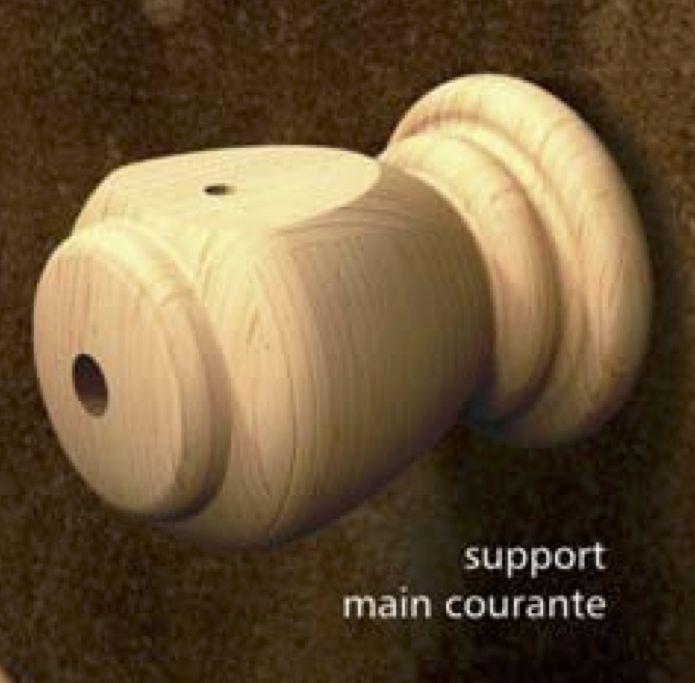 Composantes Lab-Co Inc Support pour main courante coloniale grade sélect