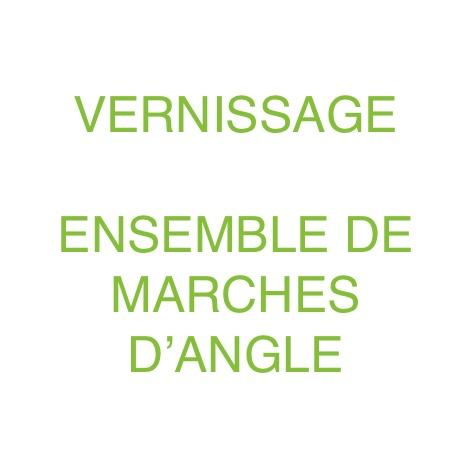 Le Marché du Bois Vernissage d'ensemble de marches d'angle 3 côtés