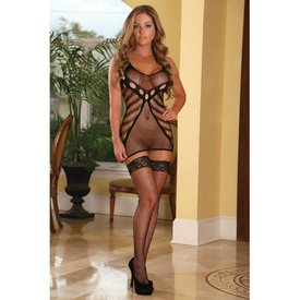 Exposed Ultra Sheer Seamless Dress