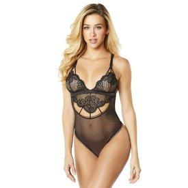 Oh La La Cheri Geometric Lace Bodysuit