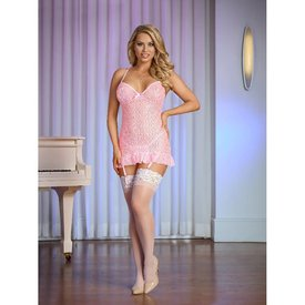 Exposed Chemise and G-String Set - Curvy