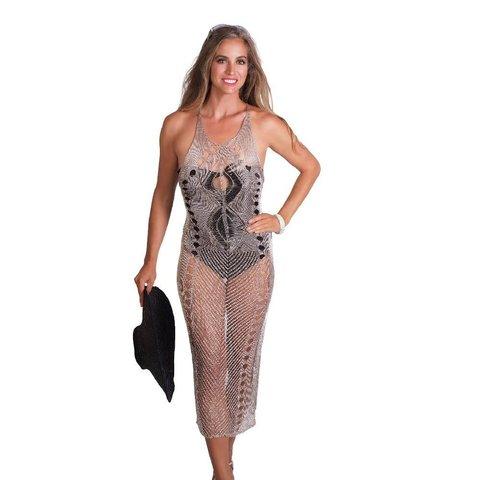 Metal Fiber Crochet Dress