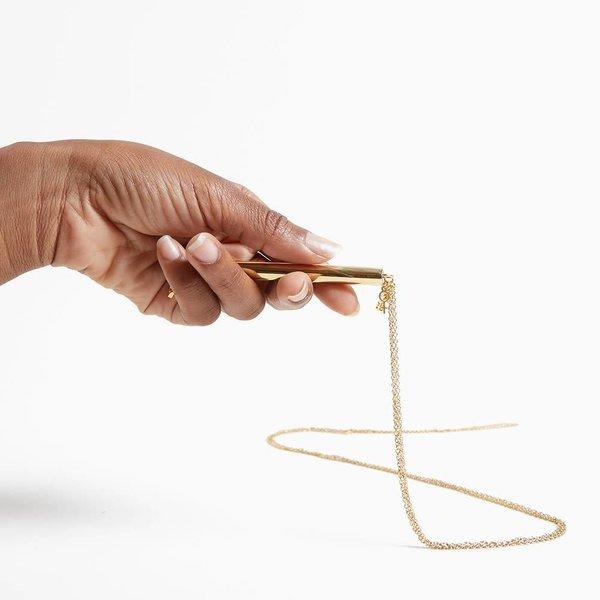 Unbound Twiggy Gold Whip Necklace