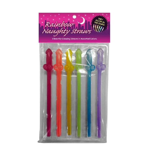 Kheper Games Rainbow Glow Naughty Straws
