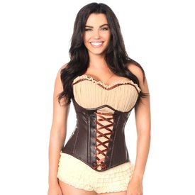 Groove Ren Faire Faux Leather Corset