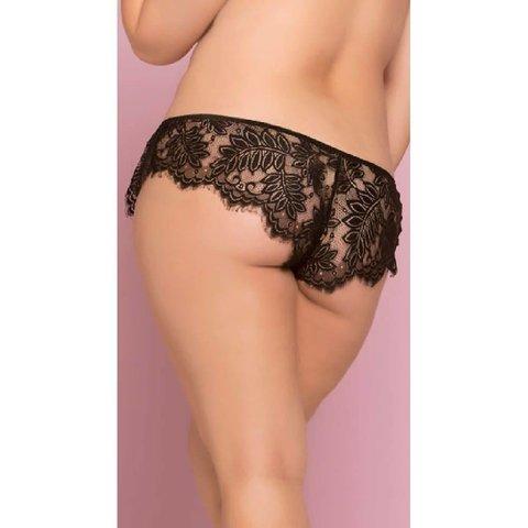 Eyelash Lace Panty - Curvy
