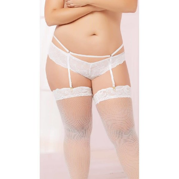 Seven 'til Midnight Galloon Lace Gartered Panty - Curvy