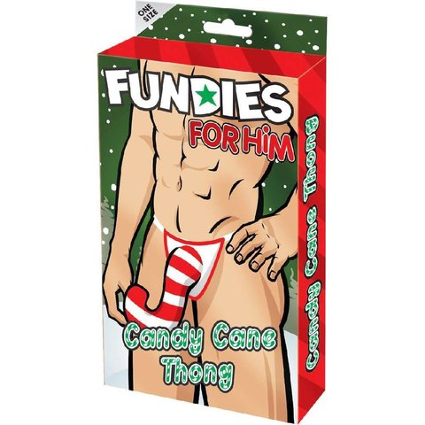 Fundies Candy Cane Thong - One Size Fits Most