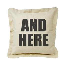 Twisted Wares And Here Pillow