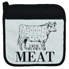 Twisted Wares I Rub My Own Meat Potholder