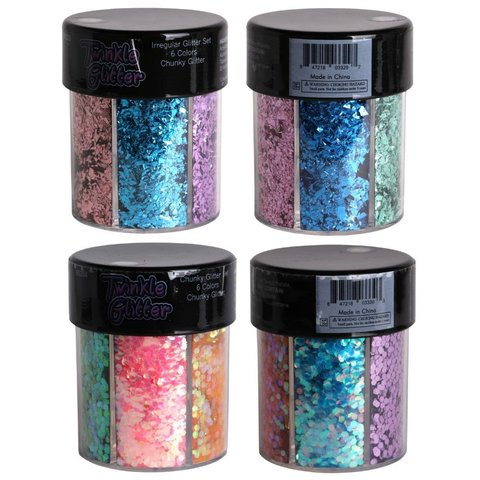 Mixed Color Metallic Chunky or Round Body Glitter